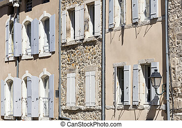 Picturesque facade of a residential home in France
