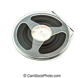 Old audio reel tape with music