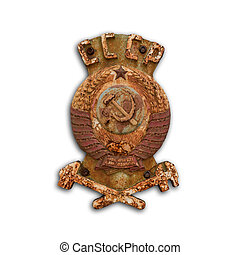 USSR coat of arms isolated on white