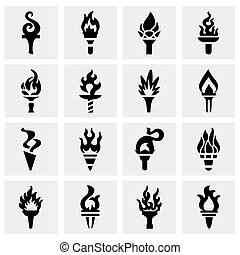 Vector Torch icon set