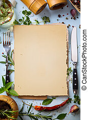 Art italian homemade menu food background; restaurant week