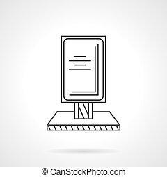 Outdoor advertising thin line vector icon - Citylight or...