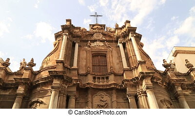 View of Sant'Anna church in Palermo
