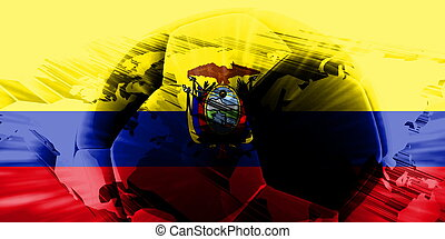 Flag of Ecuador soccer - Flag of Ecuador, national country...