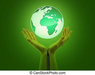 green planet earth in yours hands