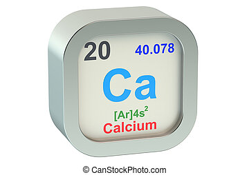 Calcium element isolated on white background