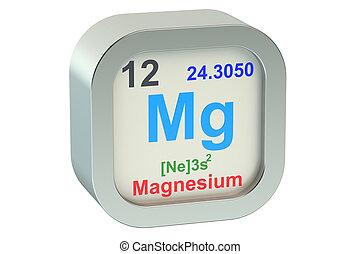 Magnesium element isolated on white background
