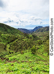 Serra Malagueta mountains in Santiago Island Cape Verde -...