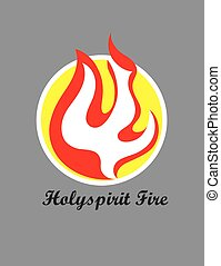 Holy spirit Fire Logo, art vector design