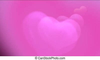 Brightly pink hearts, Good for valentine day.1080p