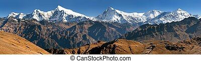 View of Putha Churen Himal and Dhaulagiri Himal - Dhaulagiri...