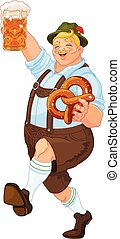 Oktoberfest Guy - Illustration of Oktoberfest guy...