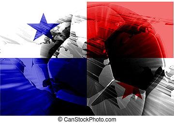 bandera, Panamá, futbol