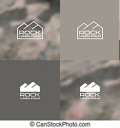 Logo rock Contour and silhouette versions for color and...