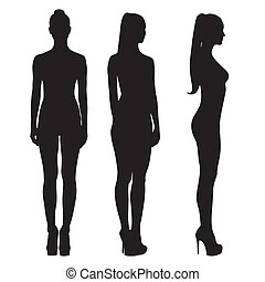 Silhouettes of naked girls full length - Silhouettes of...