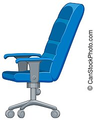 Office chair in blue color illustration