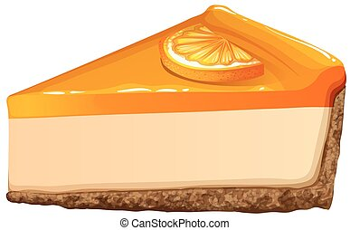 Orange cheesecake with jam  illustration