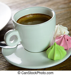 Americano - Cup of Americano coffee for afternoon tea break
