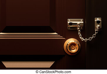 Lock your door - Lock your door 3d rendering