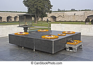 Mahatma Gandhi memorial - JANUARY 20, 2015, NEW DELHI, INDIA...