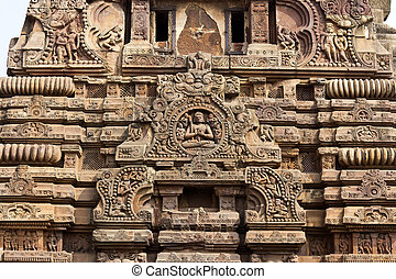 Detail of Shri Vaital temple - Detait of the ancient (8th...