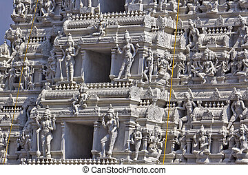 Detail of Gopuram of the Hindu Kanakadurga, or The Golden...