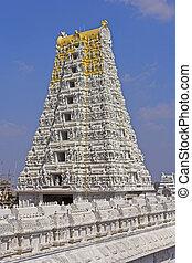 Gopuram of the Kanakadurga, ot The Golden Durga temple in...