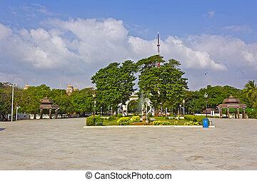 Anna, parque, en, Chennai,