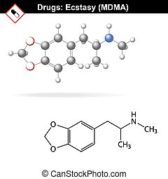 Ecstasy mdma drug structure - Ecstasy recreational drug...