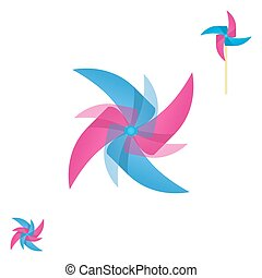 Pinwheel rotating logo - Pinwheel rotating icon, abstract...