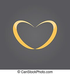 Wedding rings in heart shape - Two wedding rings in heart...