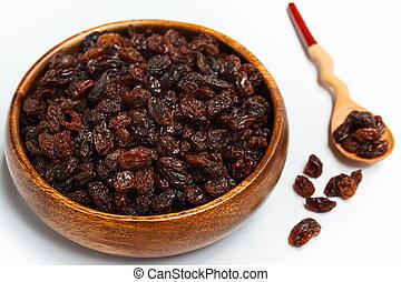 Raisins. - dried raisins, organic dry raw brown raisins.