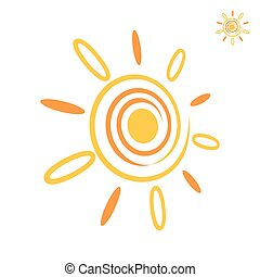 Sunray icon, summer logo template 3d vector, eps 8