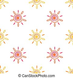 Seamless sun background, 2d spiral elements, vector, eps 8