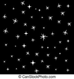 Star background, seamless pattern, 2d vector, eps 8