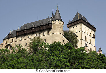 burgraviate palace and Big Tower - Karlstejn Castle -...