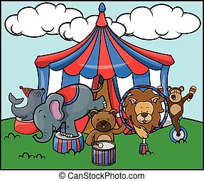 Animal circus safari