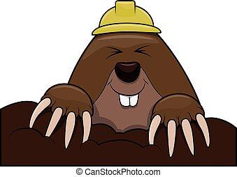 Mole cartoon