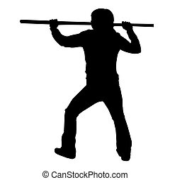 Martial Arts Male or Female with Quarter Staff or Bo...