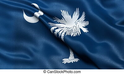 South Carolina state flag loop - Realistic South Carolina...