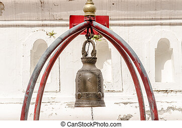 Old bell hang in Chinese temple
