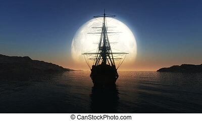 moon old ship