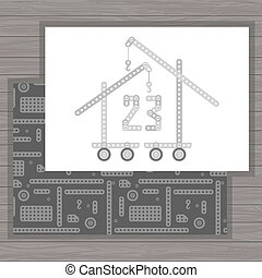 man day building cards - Creative vector 23 february...