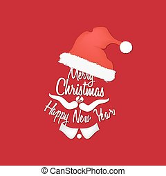 Santa Claus - Red Christmas background of Santa Claus, with...