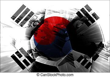 Flag of South Korea soccer - Flag of South Korea, national...