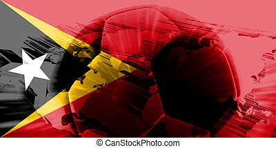 Flag of Timor-Leste soccer - Flag of Timor-Leste, national...