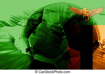 Flag of Zambia soccer - Flag of Zambia, national country...