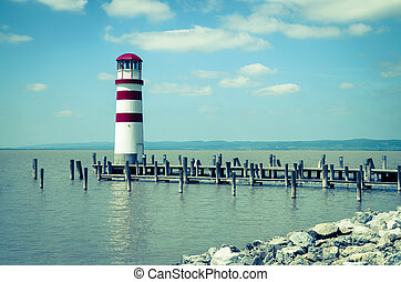 lighthouse at Lake Neusiedl image