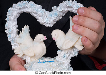 Coração, Pombos