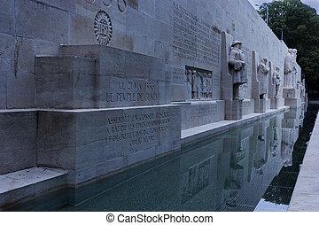 Reformation Wall in Geneva in Switzerland - Reformation...